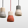 Cement Wood Lamp, Sand-30595